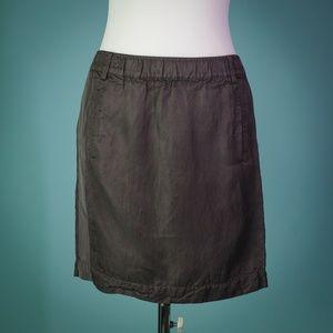 Banana Republic Size 2 Brown Linen Blend Skirt
